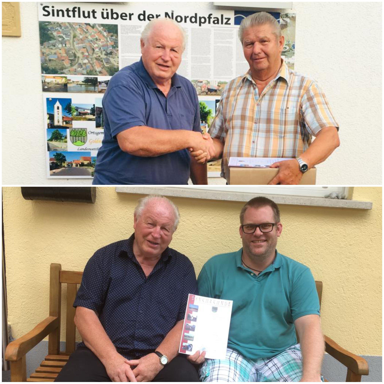 Ehrung Edgar Fett sowie Torsten Schlemmer mit Ortsbürgermeister Helmut Brand