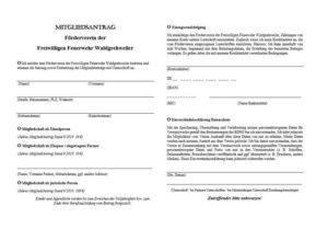 Mitgliedsantrag Feuerwehr Förderverein Waldgrehweiler
